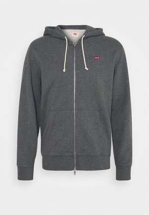 NEW ORIGINAL ZIP UP - Huvtröja med dragkedja - charcoal heather
