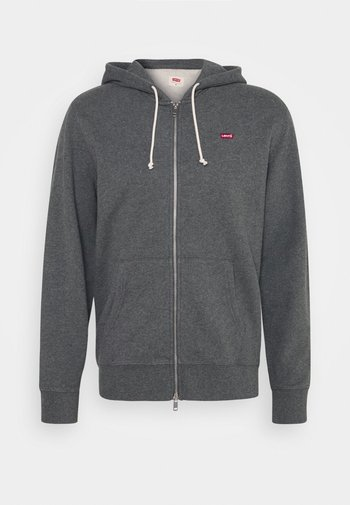 NEW ORIGINAL ZIP UP - Zip-up sweatshirt - charcoal heather
