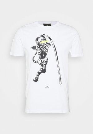 MENS SLIM FIT VAULT ZEBRA - Print T-shirt - white