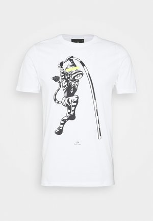 MENS SLIM FIT VAULT ZEBRA - T-shirt imprimé - white