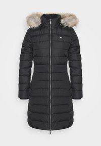 Tommy Jeans - ESSENTIAL HOODED COAT - Dunkåpe / -frakk - black - 5