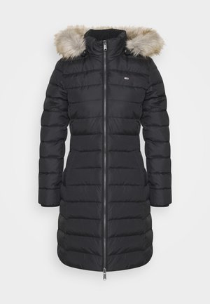 ESSENTIAL HOODED COAT - Dunkåpe / -frakk - black