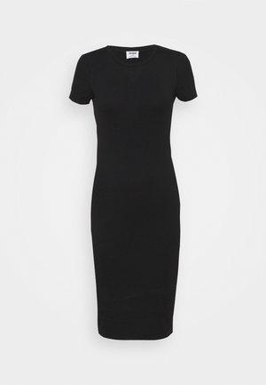 ESENTIAL SHORT SLEEVE BODYCON MIDI DRESS - Shift dress - black