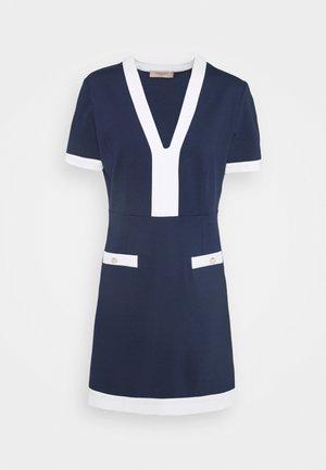 ABITO MILANO BORDI CONTRAST - Robe en jersey - indaco/neve