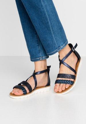 Sandals - navy metallic