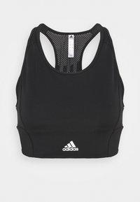 adidas Performance - Sujetadores deportivos con sujeción ligera - black/white - 4