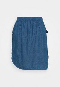 Selected Femme Petite - SLFCLARISA SHORT SKIRT - Minisukně - medium blue denim - 1