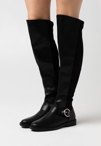 ONLY SHOES - ONLTYRA LONG SHAFT BOOT  - Kozačky nad kolena - black - 0