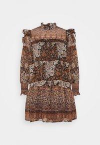 OBJARYA SHORT DRESS - Denní šaty - sandshell