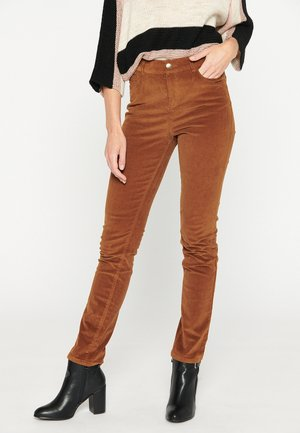 Trousers - havana brown