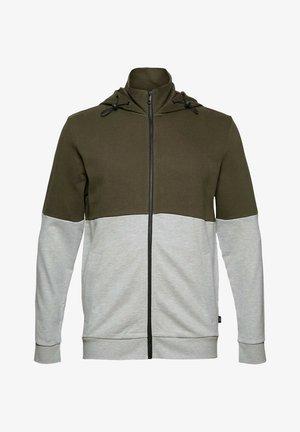 Zip-up sweatshirt - dark khaki
