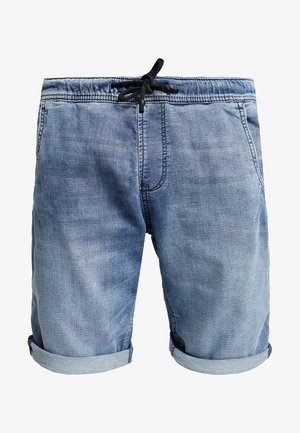 Denim shorts - acid washed blue denim
