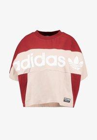 adidas Originals - BOXY TEE - T-shirt med print - ash pearl - 4