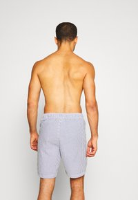 Jack & Jones - JJIARUBA SEERSUCKER  - Swimming shorts - navy blazer - 1