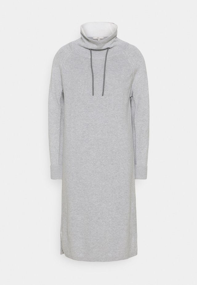 Sukienka dzianinowa - light grey