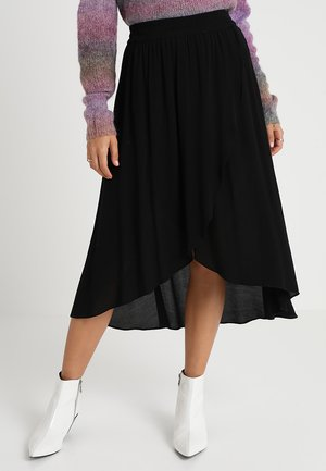 FELISHA - Wrap skirt - black