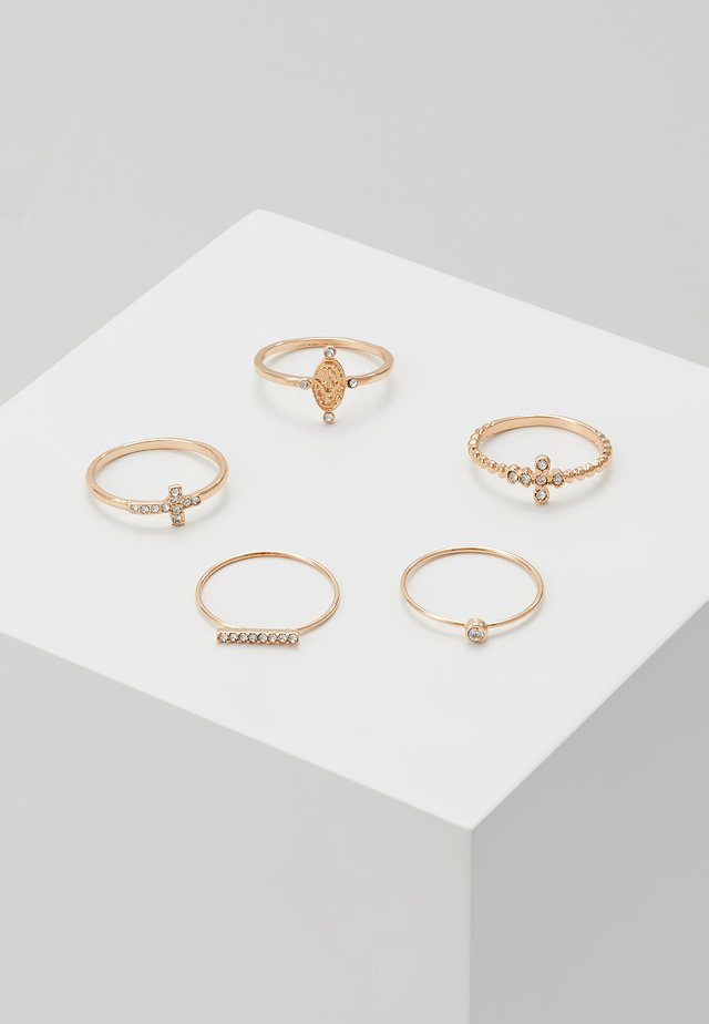 CLINA 5 PACK - Ring - gold-coloured