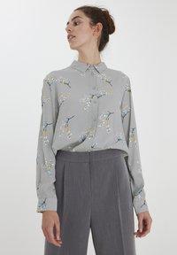 ICHI - Button-down blouse - alloy - 0