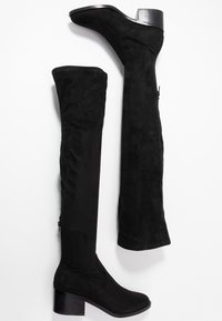 Steve Madden - GEORGETTE - Over-the-knee boots - black - 3