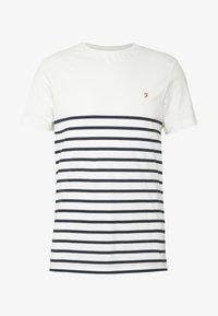 COOK STRIPED TEE - Print T-shirt - dark blue