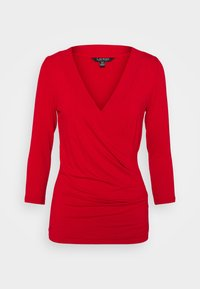 Long sleeved top - lipstick red