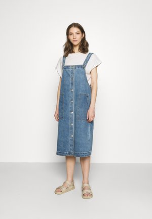 MARIA DRESS - Dongerikjole - blue medium dusty