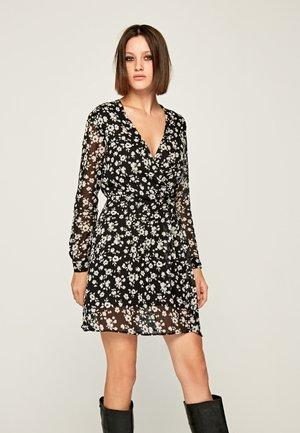 MAGDA - Day dress - black/white