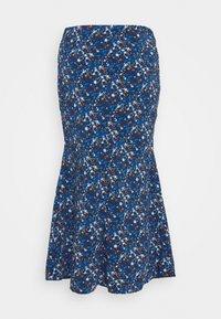 Glamorous Tall - LADIES SKIRT - Pencil skirt - navy/blue/orange - 1