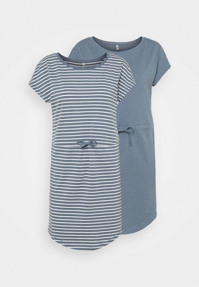 ONLMAY LIFE DRESS 2 PACK - Jerseyjurk - blue mirage/blue mir