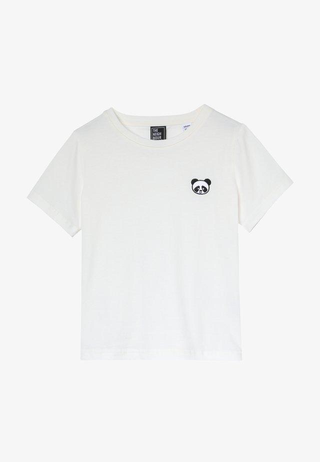 PANDA - Printtipaita - offwhite