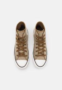 Converse - CHUCK TAYLOR ALL STAR UNISEX - Sneakers hoog - khaki/egret/terra taupe - 3