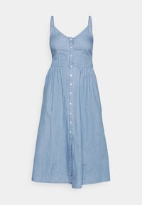 Vila - VIFANZI MIDI STRAP DENIM DRESS - Denimové šaty - light blue - 4