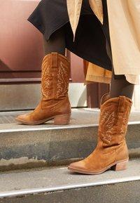 mtng - TEO - Cowboy/Biker boots - brown - 3
