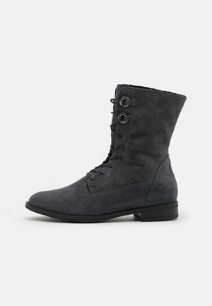 LAURETTA - Lace-up ankle boots - iron