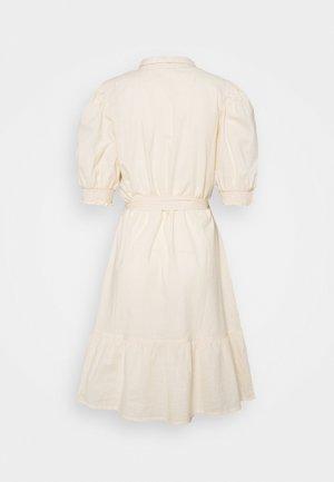 PUFF SLEEVE SHIRT DRESS - Shirt dress - stone