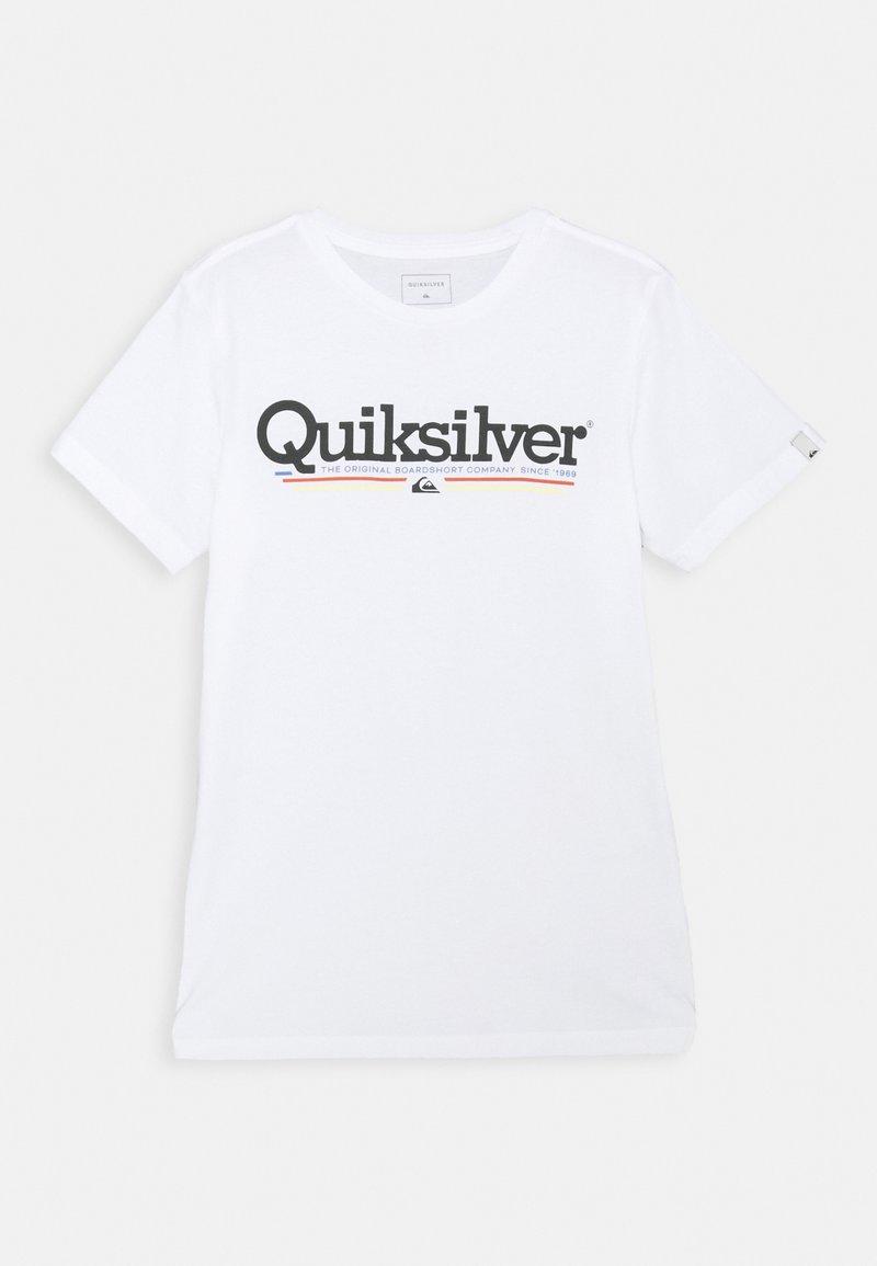 Quiksilver - SCREEN TEE - T-shirt print - white