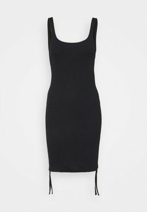 NMSTINE ROUCHING DRESS - Etuikjole - black