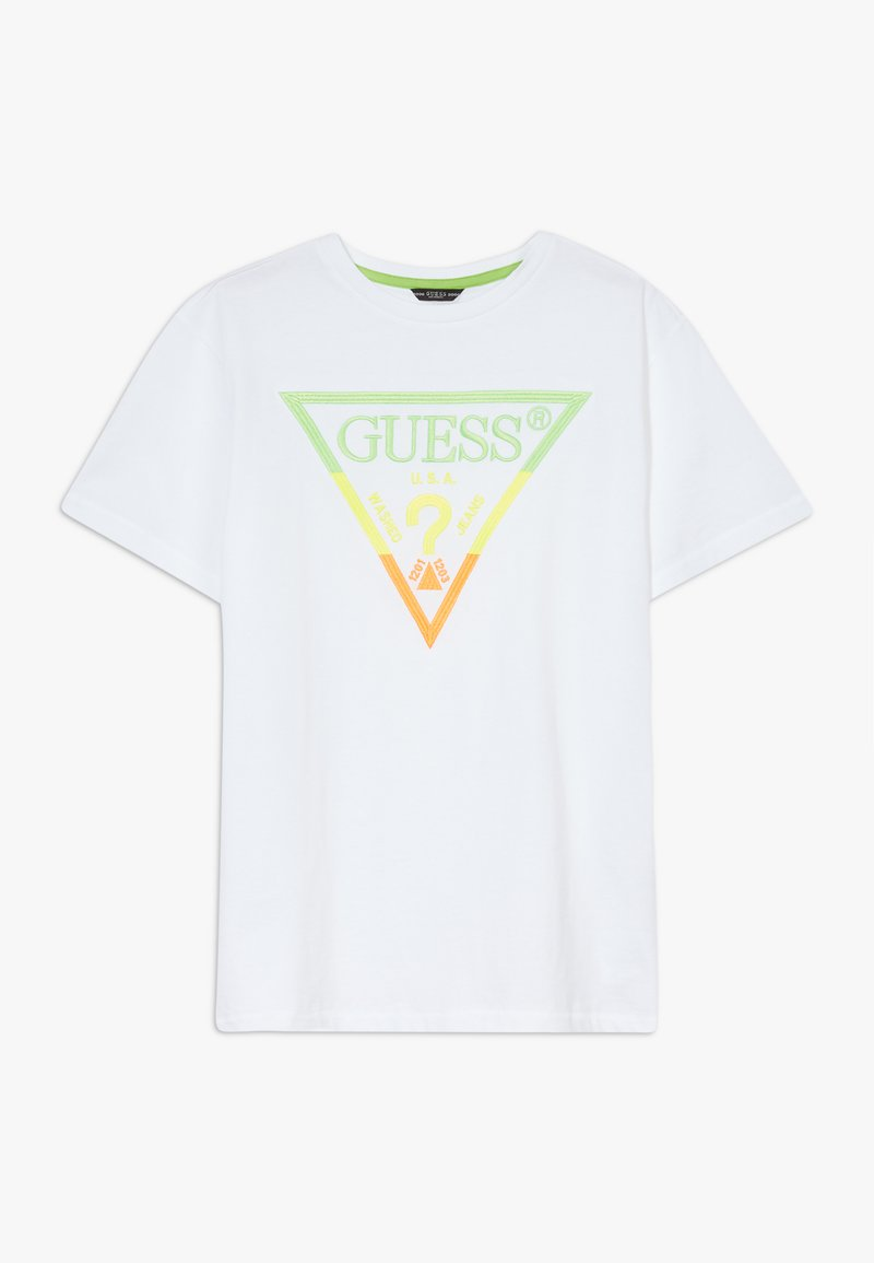 Guess - JUNIOR - Camiseta estampada - blanc pur