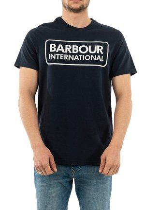 T-shirt print - bleu