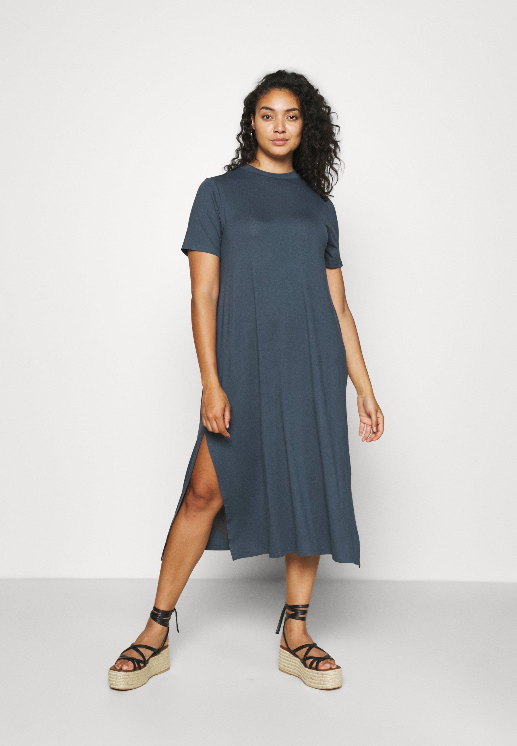 Women MIDI DRESS WITH SIDE SPLIT - Day dress