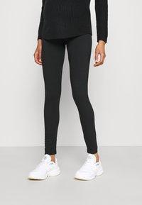MAMALICIOUS - MLSANNIE 2 PACK - Leggings - Trousers - black - 3