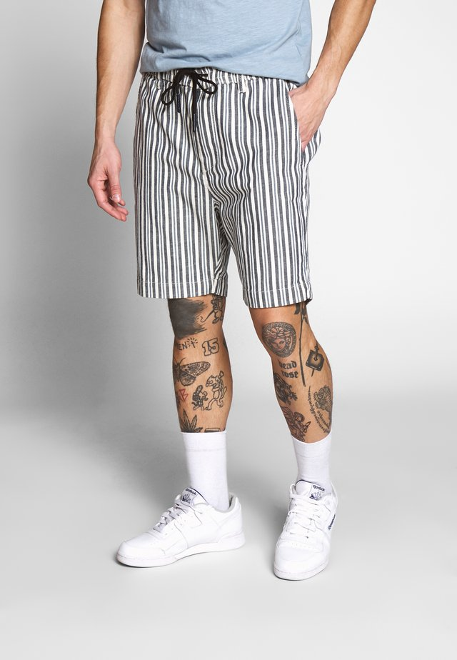 PHIL STRIPE - Shorts - blue