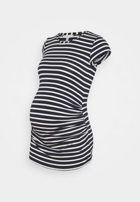 KATIA - Print T-shirt - navy blue/off white