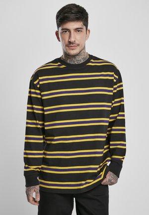 Top sdlouhým rukávem - black/yellow