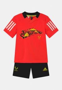adidas Performance - SET UNISEX - Sportovní kraťasy - red/black - 0