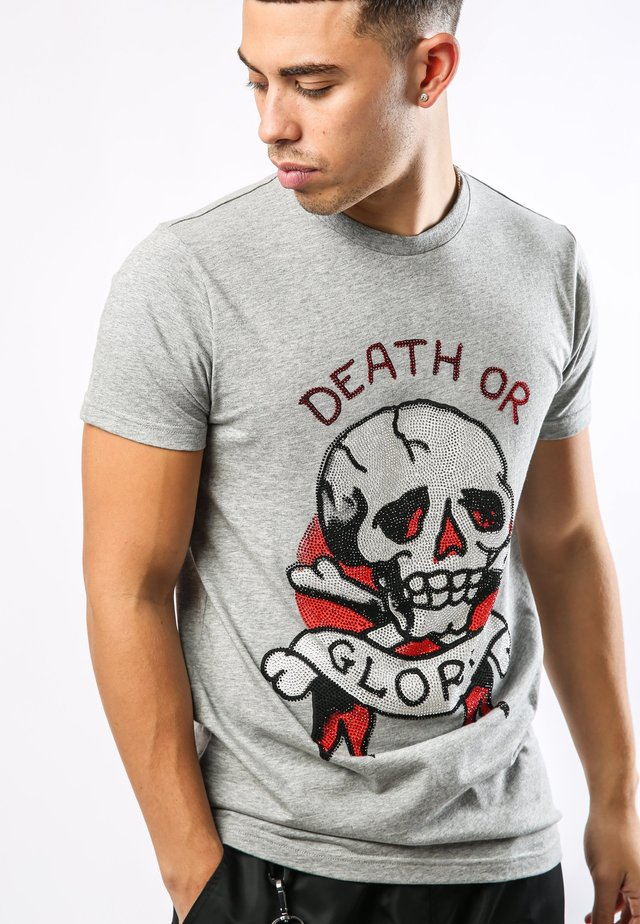 DEATH-STUD T-SHIRT - T-shirt med print - grey marl