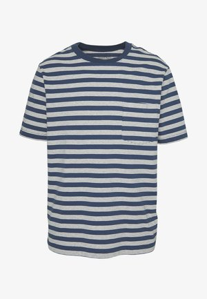 POCKET TEE - T-shirt med print - stone blue