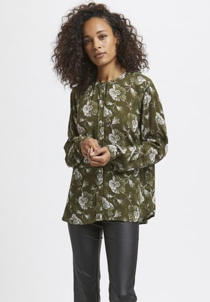 Blouse - grape leaf, chalk flower