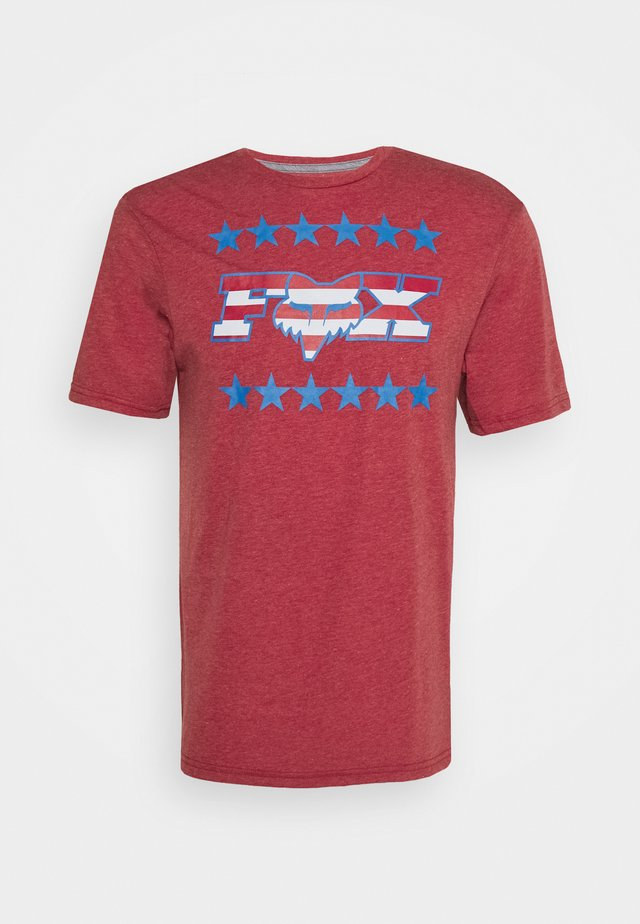 BRAKE FREE TECH TEE  - T-shirt imprimé - chili