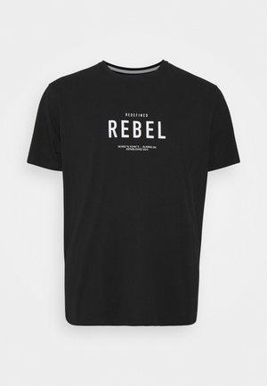 RONAN TEE - T-shirt med print - black